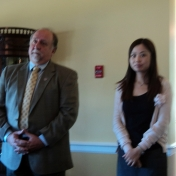 Ed Duett introduces new faculty member Siwei Gao