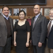 Dr. Gao (center) is appointed the first Coffey endowed professor