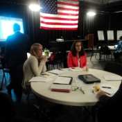Students- Ceirra Thompson and Kat Dickey participate in seminar.