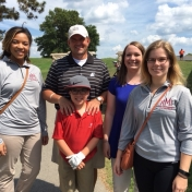 Pres. Benson and son Truman with Mary Jefferson, Michelle Owens and Shelby Fain