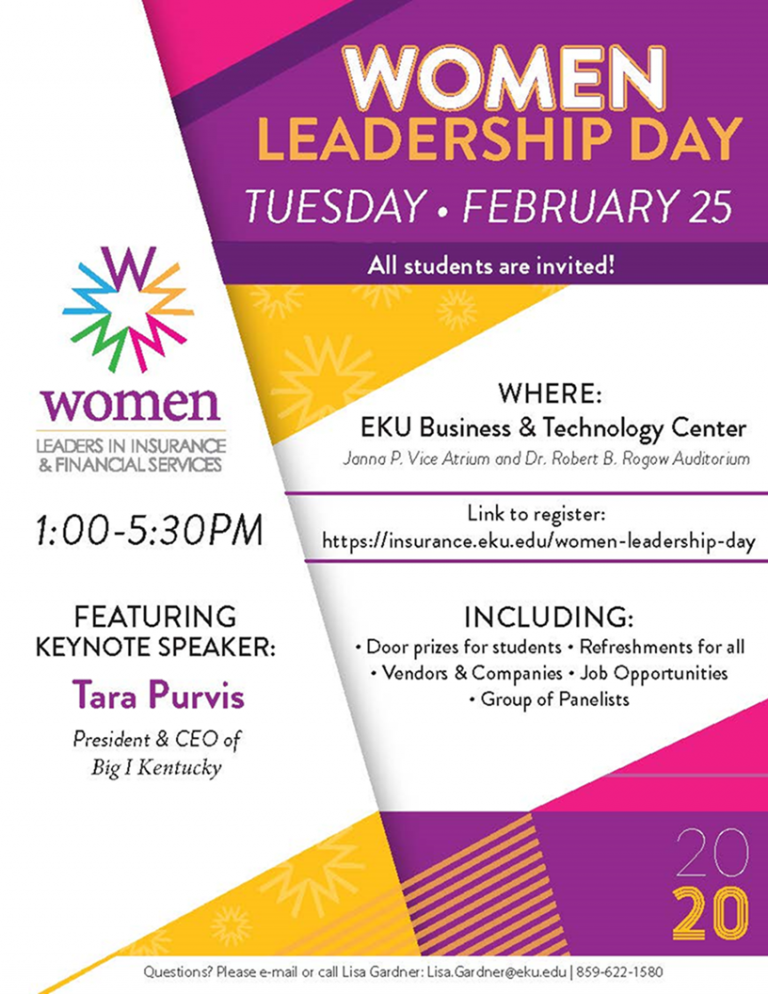 Flyer of the Women Leadership Day Event