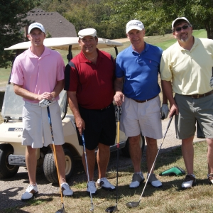 Golfers at the scramble