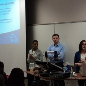 Cincinnati Insurance representatives in the RMi classroom