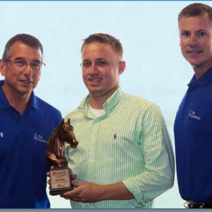 l-r: Senior VP Tim NeCastro, Nick Mills, and Rob Kepperling, District Sales Mgr