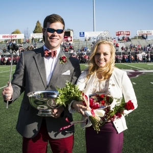 2014 EKU Homecoming King Jonny Blount and Queen Krissie Hogan